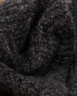 هدبند نقاب دار ساده بافت - خاکستری تیره - بافتنی