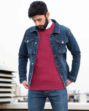 کت جین مردانه اسپرت ساده-آبی-محیطی مردانه