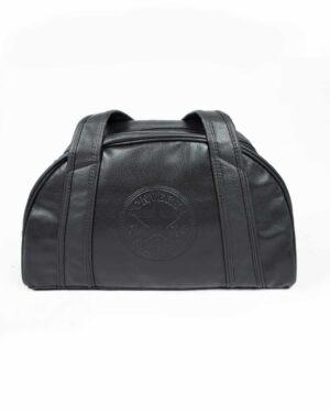 کیف ورزشی چرم مصنوعی - مشکی - رو به رو