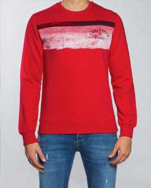 بلوز دورس اسپرت مردانه طرح دار - قرمز - رو به رو