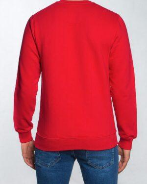 بلوز دورس اسپرت مردانه طرح دار - قرمز - پشت