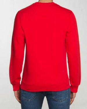 بلوز دورس مردانه آستین بلند اسپرت - قرمز - پشت