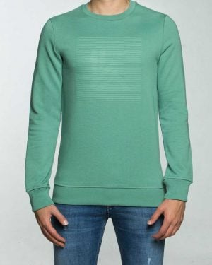 بلوز مردانه آستین بلند اسپرت - سبز زمردی - رو به رو