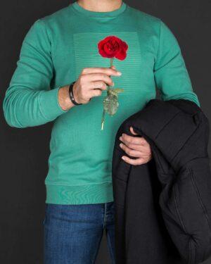 بلوز مردانه آستین بلند اسپرت - سبز زمردی-محیطی