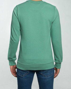 بلوز مردانه آستین بلند اسپرت - سبز زمردی - پشت