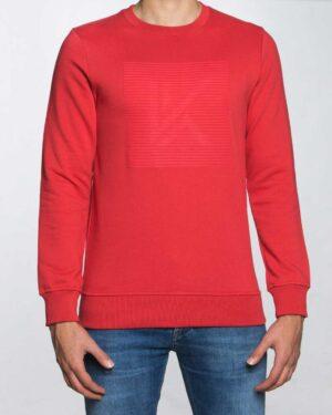 بلوز مردانه آستین بلند اسپرت - قرمز روشن - رو به رو