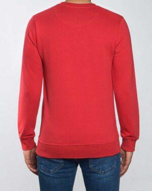 بلوز مردانه آستین بلند اسپرت - قرمز روشن - پشت