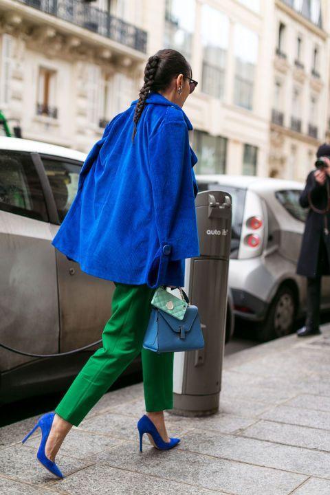 کت و کفش آبی لاجوردی و شلوار سبز سیدی