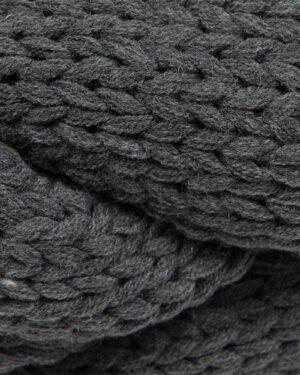 شال گردن رینگی بافت - خاکستری - بافتنی