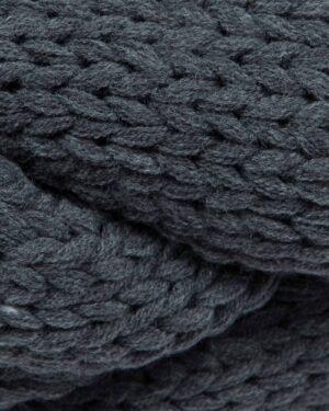 شال گردن رینگی بافت - سربی تیره - بافتنی