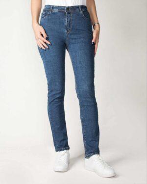 شلوار جین راسته آبی تیره-آبی تیره-روبه رو