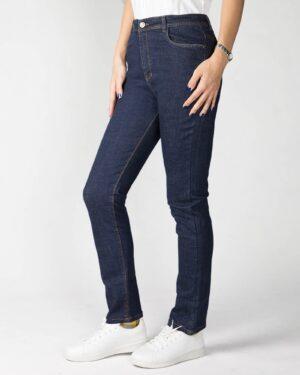 شلوار جین زنانه سرمه ای-سرمه ای-بغل