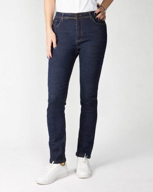 شلوار جین زنانه سرمه ای-سرمه ای-جلو
