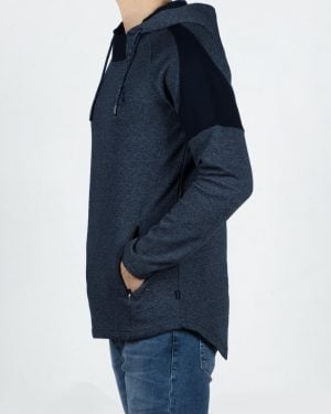 هودی جیب دار مردانه-سرمه ای-بغل