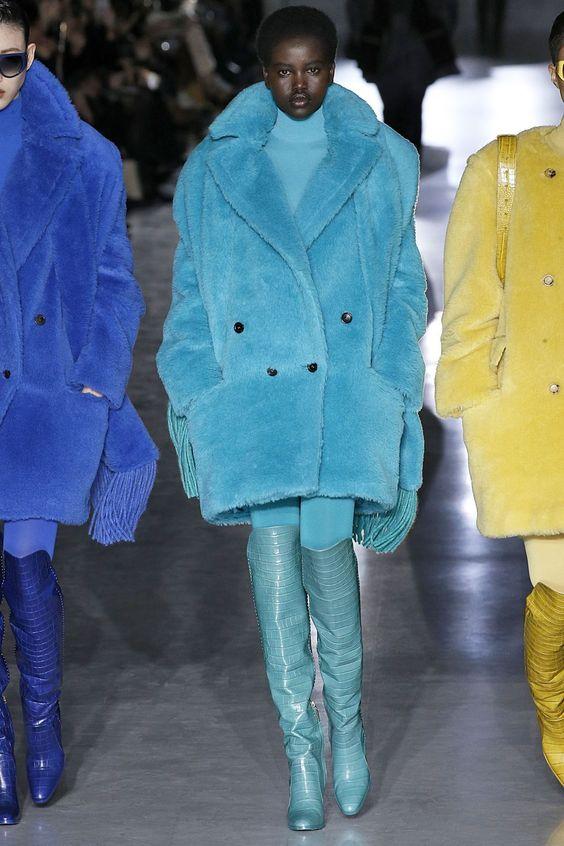 کت های زرد و آبی خز و پر شلوار خاکستری پالتو خز یاسی رنگ استایل چرم قرمز کت واک شنل خردلی چکمه زرشکی شلوار جین کت واک کت و شلوار قزمز رنگ ترند پاییز 2019