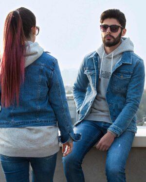 کت جین کوتاه زاپ دار زنانه - آبی - محیطی زنانه