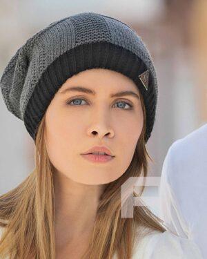 کلاه گردنی بافت - خاکستری - محیطی زنانه