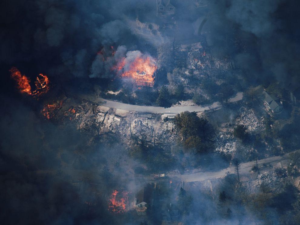 تاثیر آلودگی هوا روی گرمایش زمین و آسیب های آلودگی هوا روی گرم شدن هوا-آتش گرفتن درختان و جنگل و ایجاد گاز های مضر