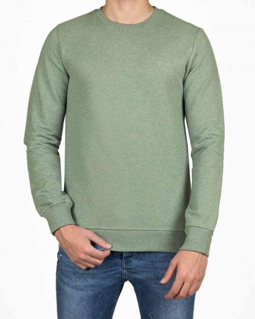 بلوز دورس مردانه آستین بلند- سبز دریایی- رو به رو