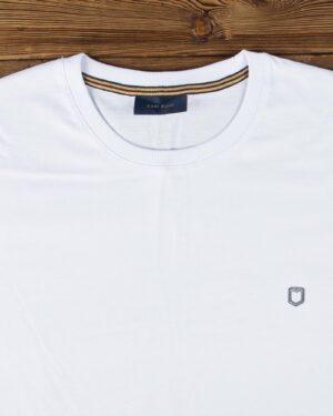بلوز مردانه آستین بلند ساده- سفید- یقه
