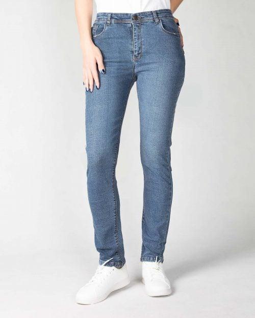 شلوار جین راسته آبی زنانه- رو به رو