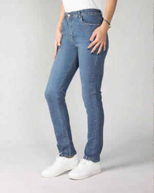 شلوار جین راسته آبی زنانه- نیم رخ
