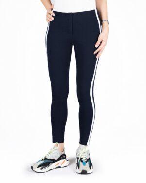 لگ ورزشی زنانه دو خط- سرمه ای- رو به رو