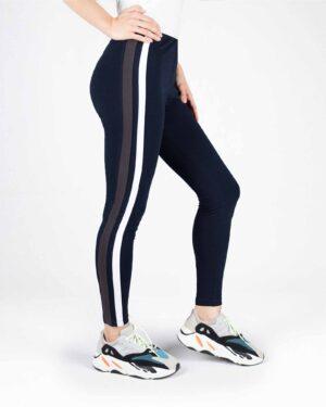 لگ ورزشی زنانه دو خط- سرمه ای- نیم رخ