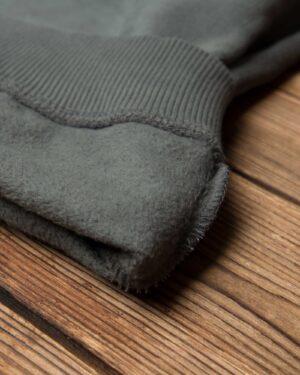 بلوز دورس طرح دار مردانه - خاکستری - نخ پنبه