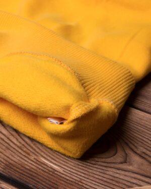 بلوز دورس طرح دار مردانه - زرد - نخ پنبه