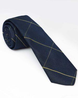 کراوات طرح دار - سرمه ای تیره