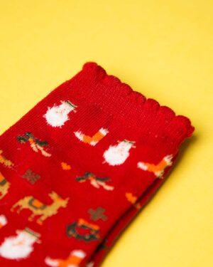 جوراب نخی طرحدار کریسمس-دیتیل
