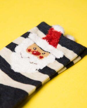 جوراب نخی طرح بابانوئل-دیتیل