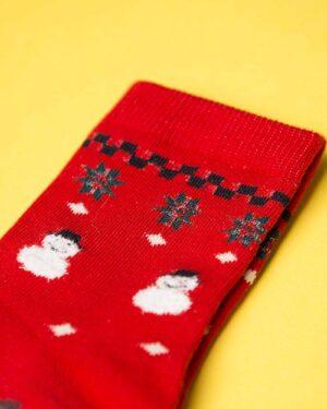 جوراب نخی طرح درخت کریسمس-دیتیل
