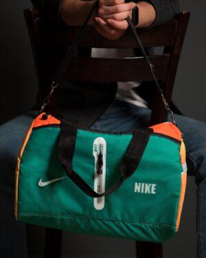 ساک ورزشی طرحدار نارنجی سبز - خزهای - محیطی