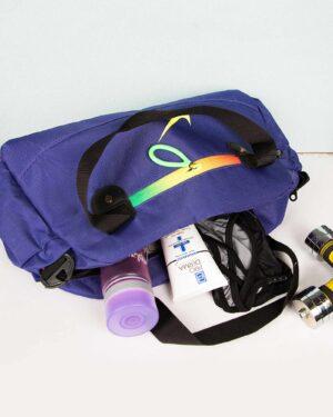 ساک ورزشی طرح نایک - آبی بنفش - کیف بزرگ و جادار