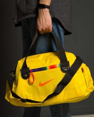 ساک ورزشی طرح نایک - زرد - محیطی