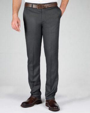 شلوار فاستونی راسته مردانه - خاکستری - رو به رو