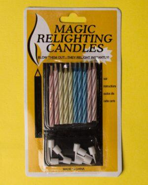 شمع جادویی راهراه 10تایی - چند رنگ - بسته بندی