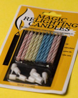 شمع جادویی راهراه 10تایی - چند رنگ - 4 رنگ