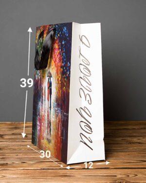 پاکت کادویی نقاشی رنگ روغن - چند رنگ - ابعاد