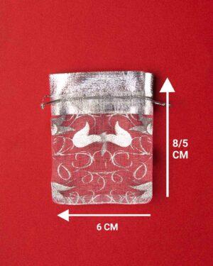 کیسه توری نقرهای طرح لاله - ابعاد