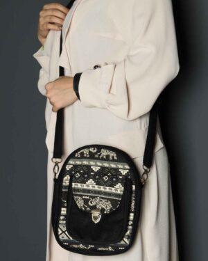 کیف دوشی اسپرت دخترانه - مشکی - زنانه