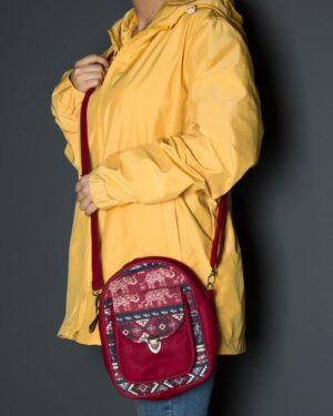 کیف دوشی اسپرت طرحدار قرمز-قرمز-محیطی