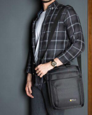 کیف دوشی اسپرت کترپیلار - مشکی -محیطی