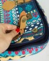 کیف دوشی دو دکمه آبی - سرمهای - بند کمربندی، دکمه آهنربایی