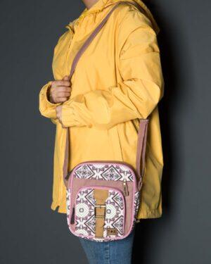 کیف دوشی طرحدار صورتی - صورتی کثیف -دخترانه