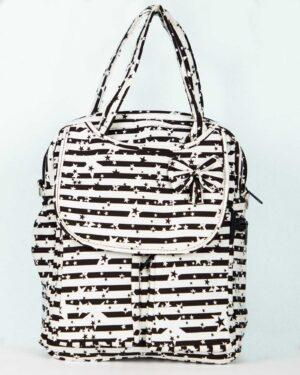 کیف دوشی طرح ستاره دخترانه - سفید - رو به رو