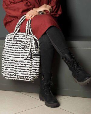 کیف دوشی طرح ستاره دخترانه - سفید - زنانه