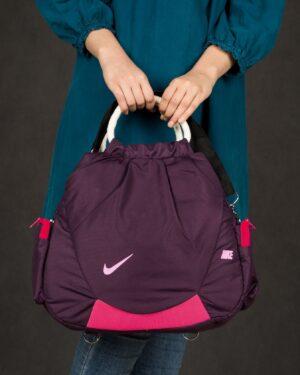 کیف ورزشی زنانه طرح نایک - بنفش - محیطی